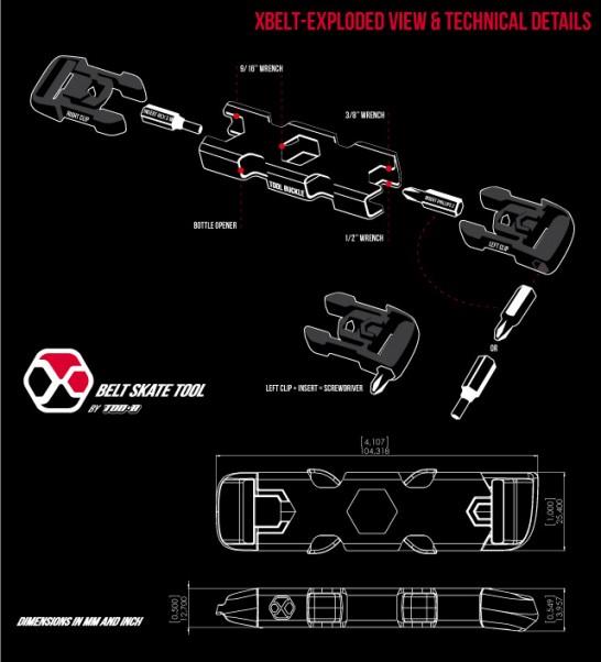 スケートボード用工具キット エックスベルト