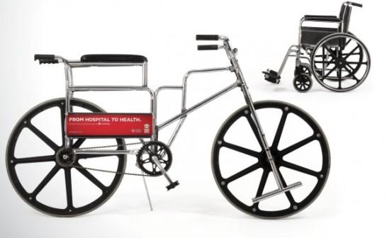 車椅子から作った自転車