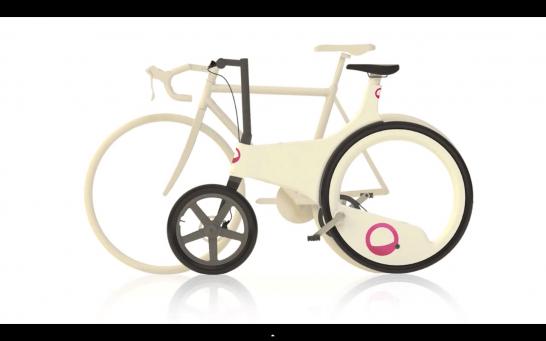 スポークレス自転車 lunartic