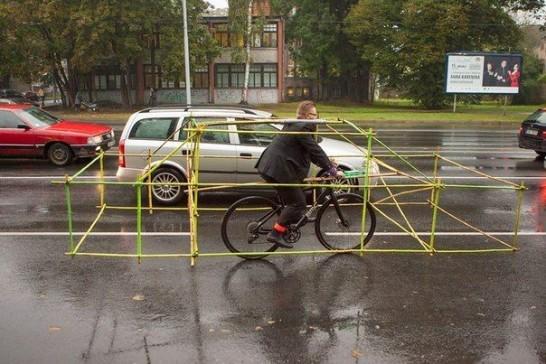 自転車を車サイズにしてみた