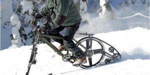 雪道を疾走!雪上バイク改造キット「KTrak」