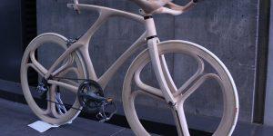 木から作られたオリジナルデザイン自転車by大嶋洋二郎