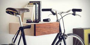 ヴィンテージ自転車に似合う木製バイクラック「Bike Valet」