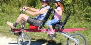 プロ選手のロードバイク2人乗り方法